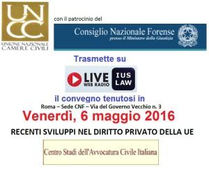 Su IusLaw WebRadio la registrazione del convegno sul diritto privato nell'UE